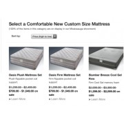 Do you customize existing mattresses?