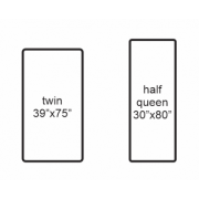 Can a twin fitted sheet be used on half of a split queen adjustable bed?