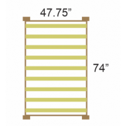"My 3/4 bed is 47.75"" x 74"" in interior dimensions. Will a standard three quarter mattress fit?"