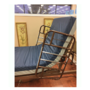 If you place our hospital bed in the most upright position the rails turn into helpful grabs.