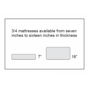 We can make a 3/4 mattress anywhere from 7 inches to 16  inches thick