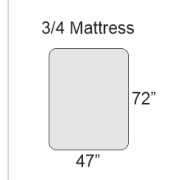 Who makes inexpensive 3/4 mattresses?