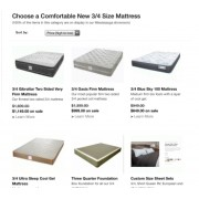Who can ship a 3/4 mattress to Sherbrooke Quebec?