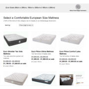 Who makes custom mattresses for European sized beds?