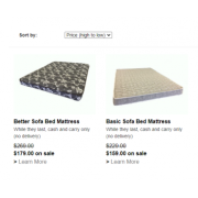 Sofa Bed mattresses in double size are in stock
