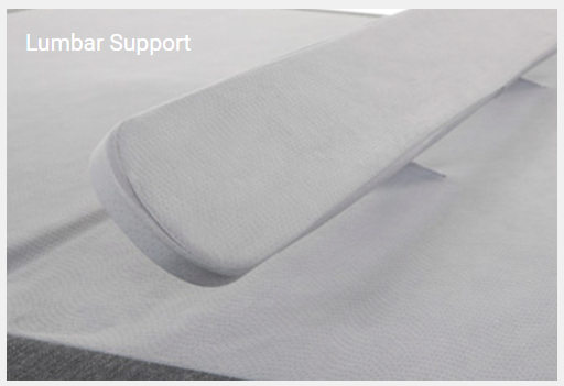 lumbar support adjustable bed