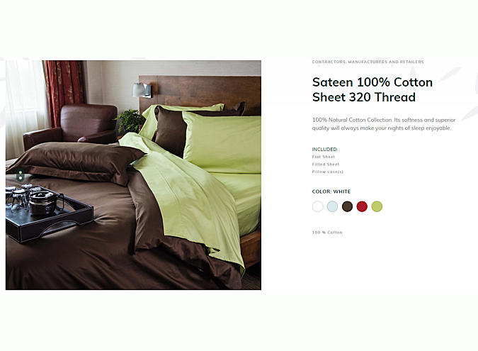 Custom Size Sateen Cotton sheet sets for sale in Ontario